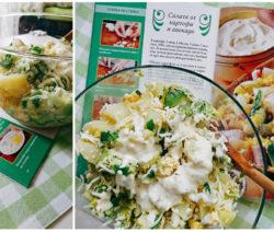 Вегетарианска салата с картофи и авокадо