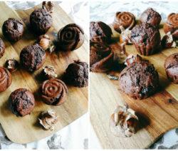 Шоколадови мъфини с кестени