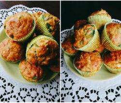 Солени мъфини със сирене и спанак