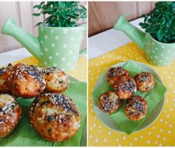 Солени мъфини със сирене и босилек