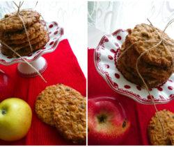 Бисквити с ябълки и овесени ядки