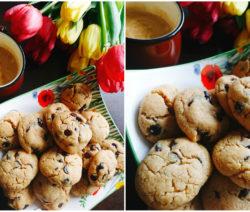 Бисквити с фъстъчено масло и шоколад